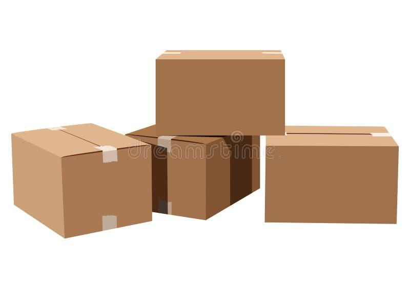 Boîtes en carton illustration stock