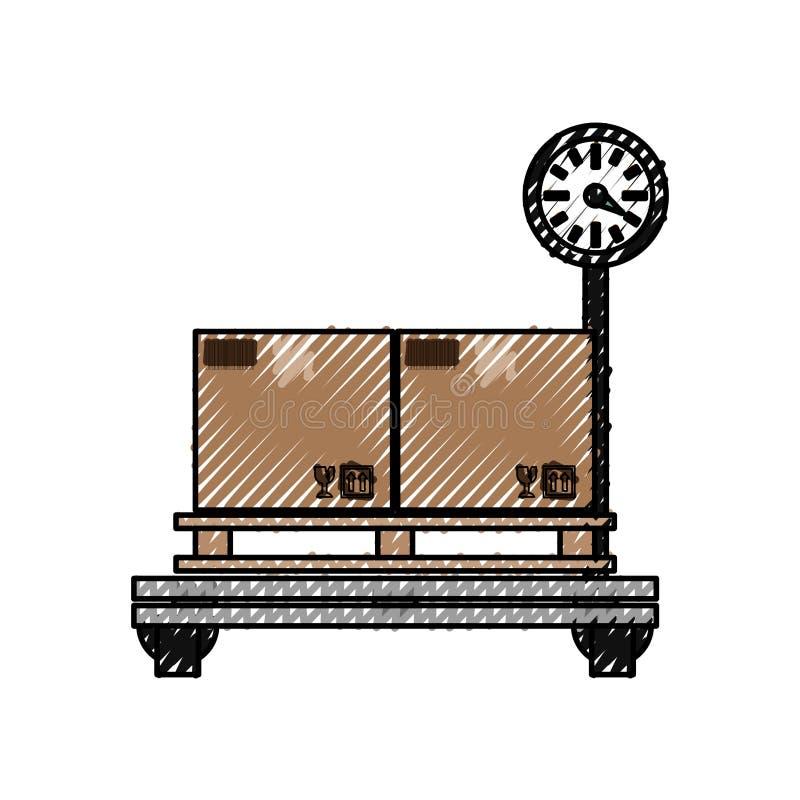 Boîtes en carton de la livraison illustration de vecteur