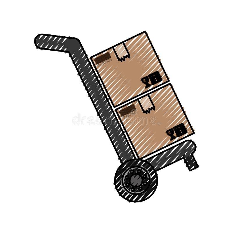 Boîtes en carton de la livraison illustration libre de droits