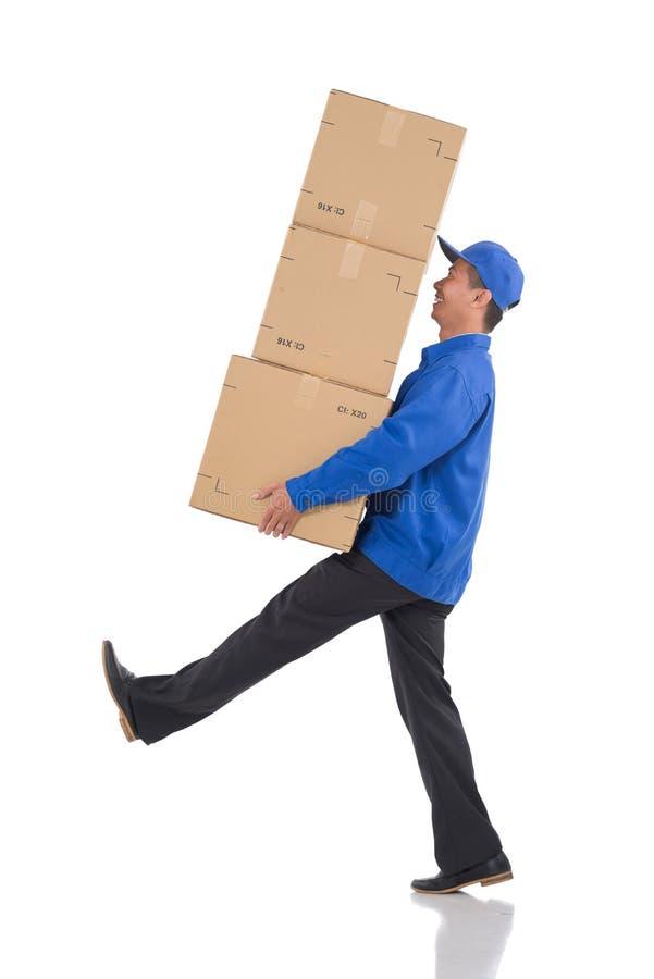 Boîtes en carton de transport photographie stock