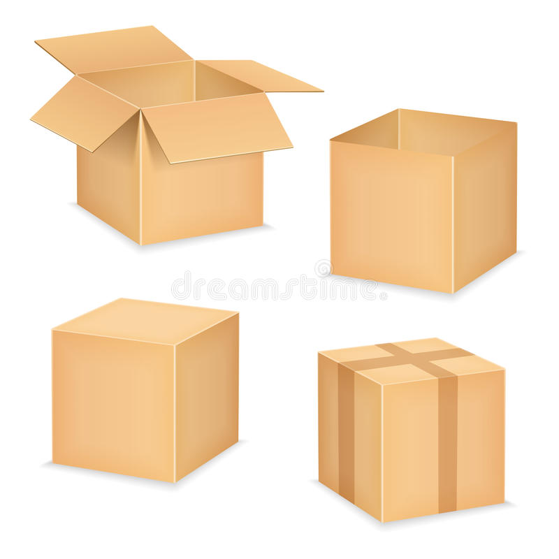 Boîtes illustration stock