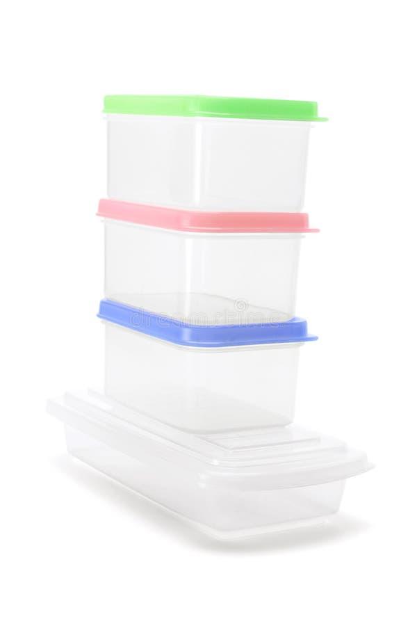 Boîtes en plastique photos libres de droits