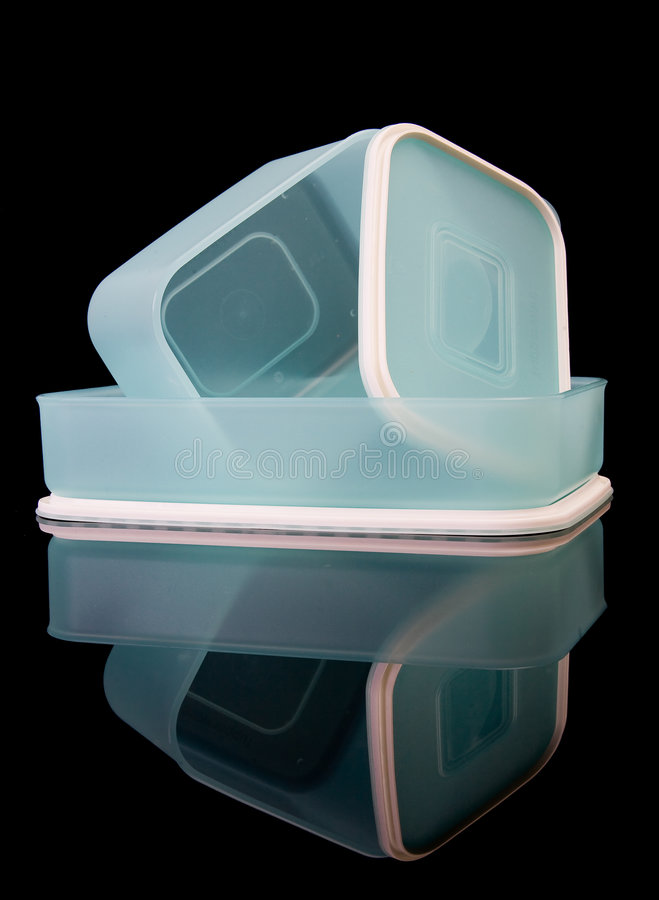 Boîtes en plastique photos stock