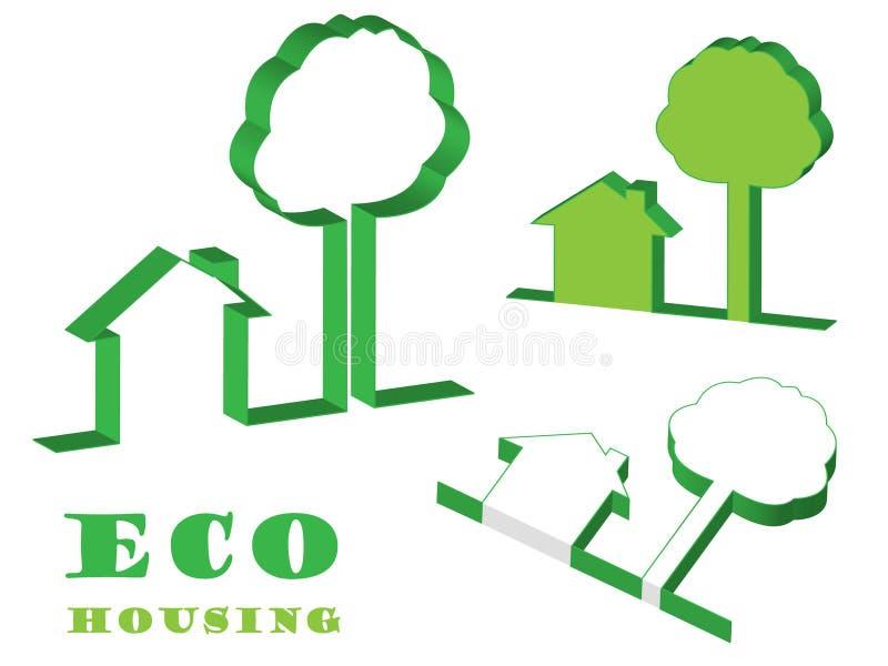 Boîtier d'Eco illustration de vecteur