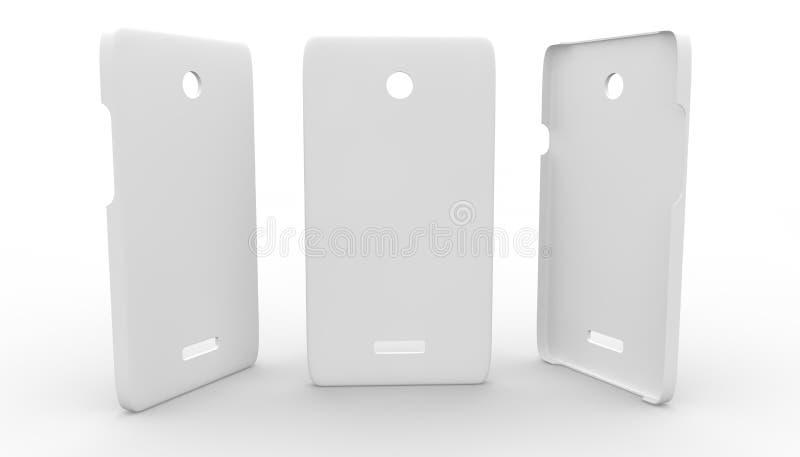 Boîtier en plastique blanc pour le téléphone illustration libre de droits