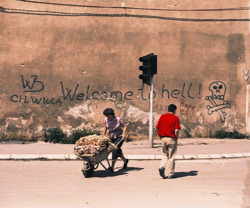BOŚNIACKA CYWILNA wojna zdjęcie royalty free