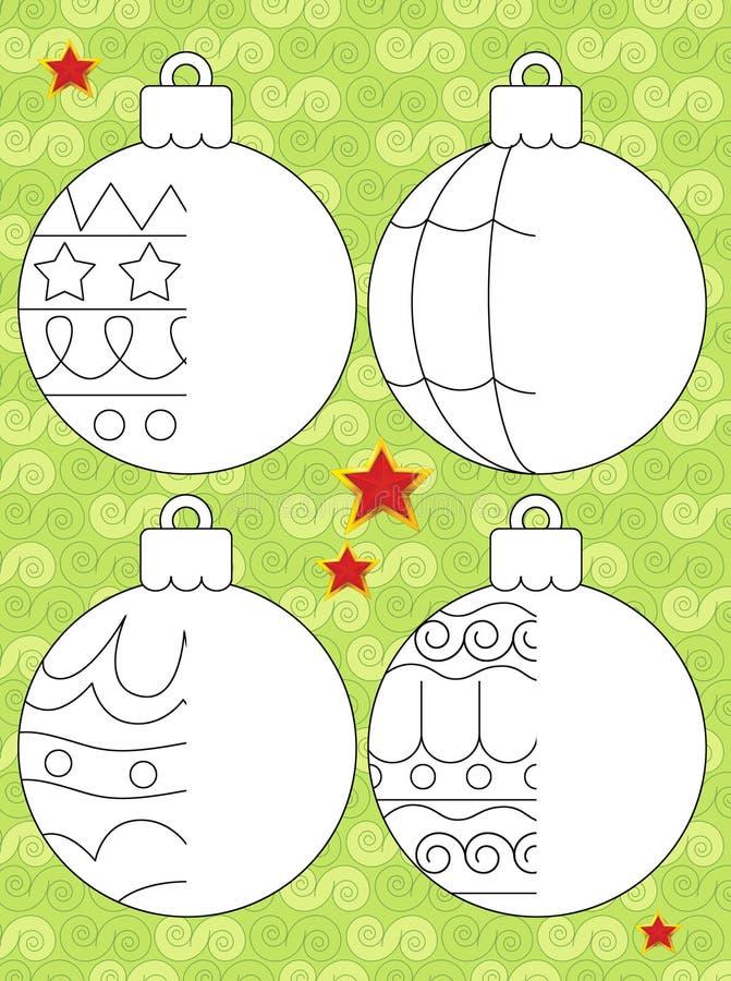 Boże Narodzenia ćwiczą ilustraci i pracy stronę dla dzieci - Święty Mikołaj - royalty ilustracja
