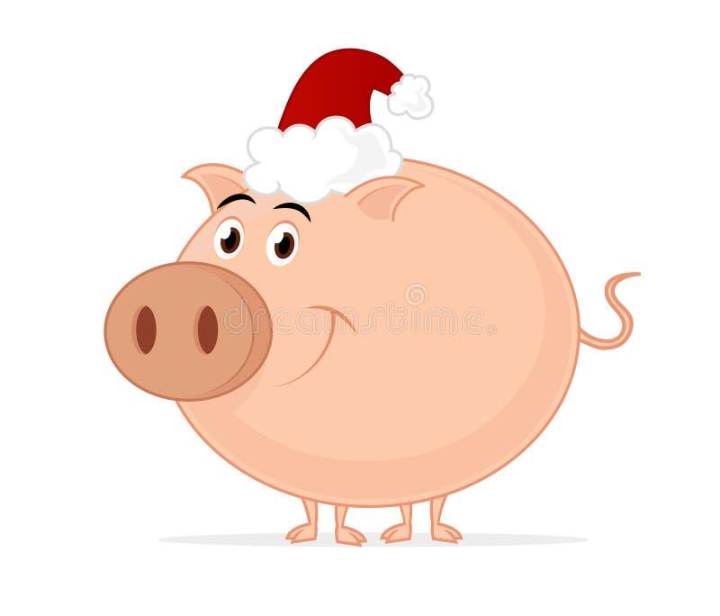 boże narodzenia świniowaci ilustracja wektor