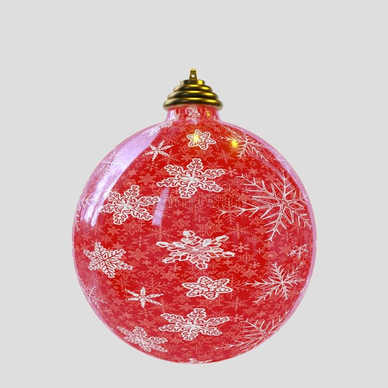 Boże Narodzenia balowi z śnieżnymi płatkami ilustracja wektor