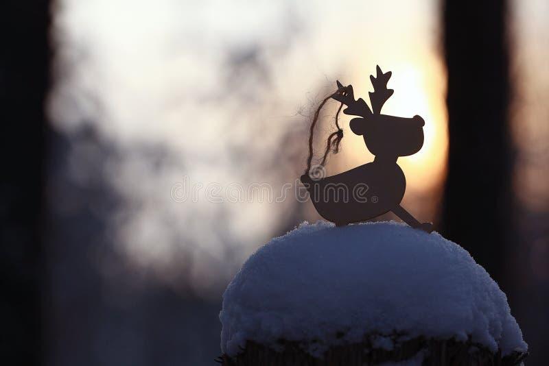 Boże Narodzenia bawją się rogacza obrazy royalty free