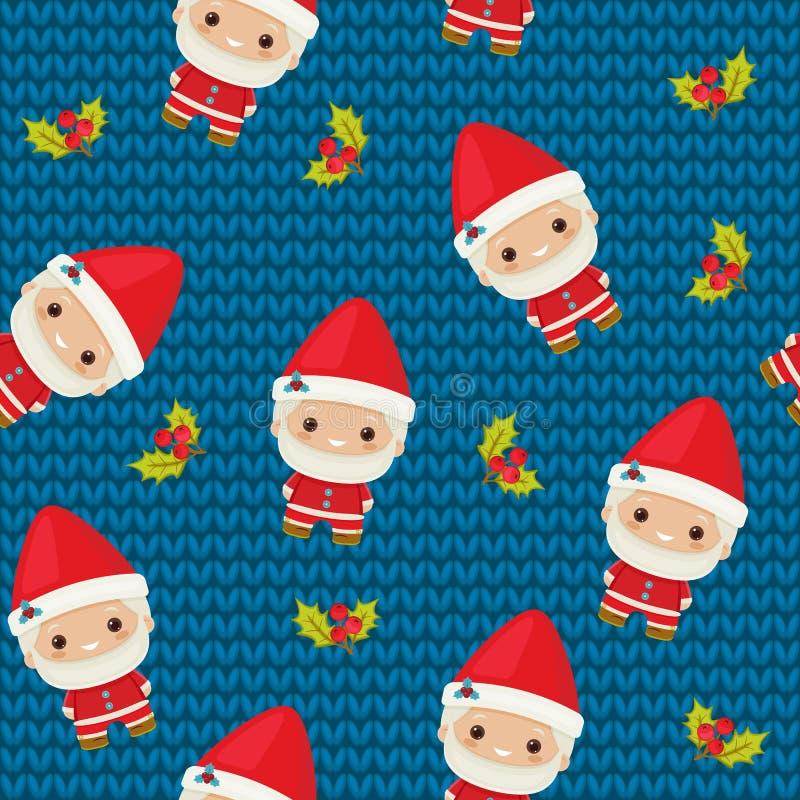 boże narodzenia Claus bezszwowy deseniowy Santa ilustracji