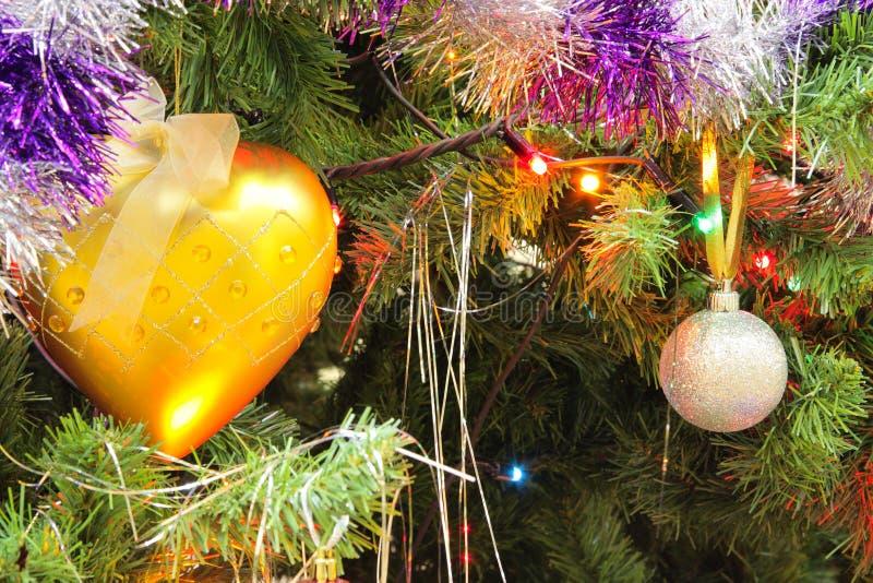 boże narodzenia dekorujący drzewo zdjęcia stock
