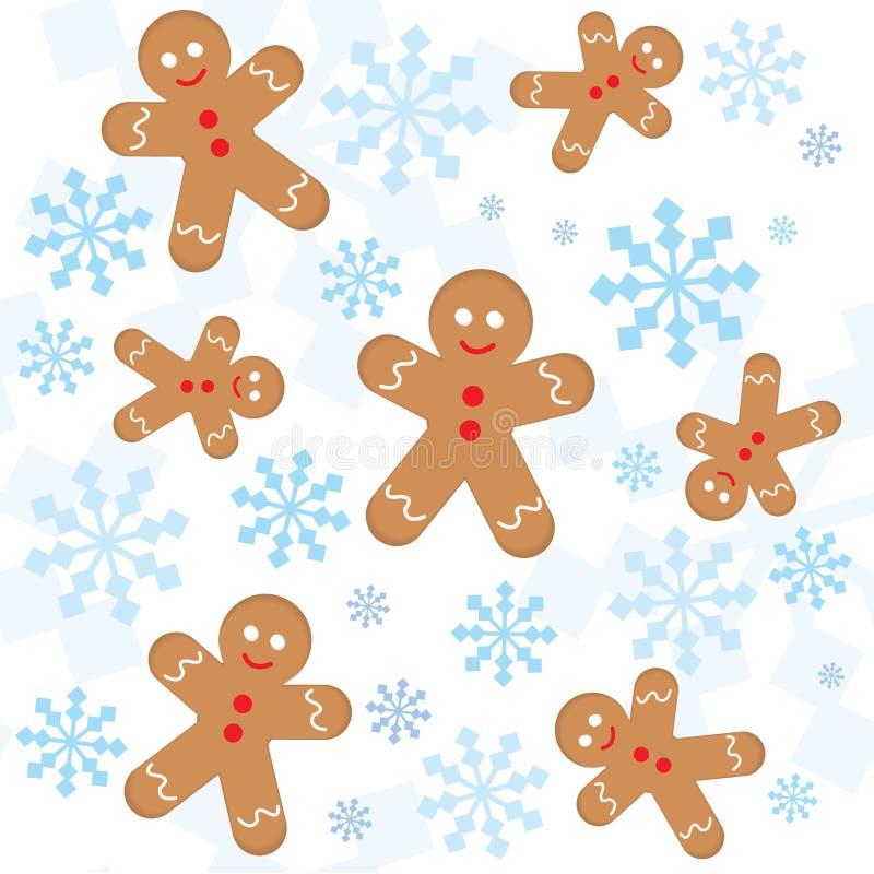 boże narodzenia deseniują bezszwowych płatek śniegu ilustracji