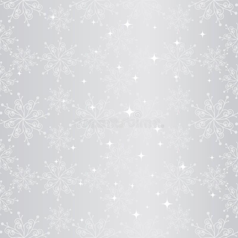boże narodzenia deseniują płatka śniegu bezszwowego lśnienie