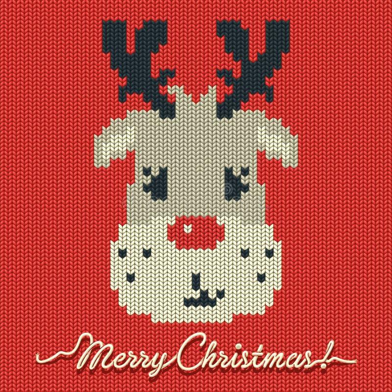 Boże Narodzenia dziali kartę lub tło z rogaczem ilustracji
