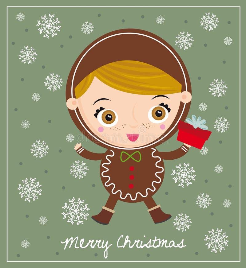 boże narodzenia gingerbreadman royalty ilustracja