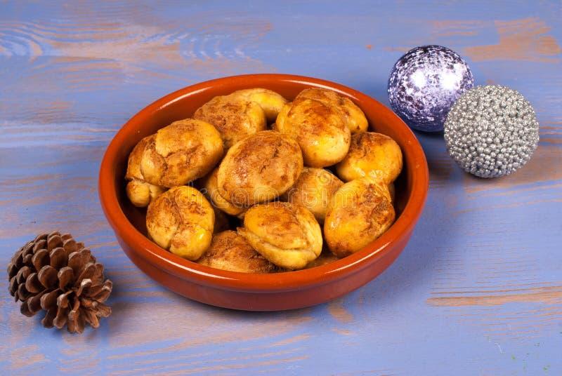 Boże Narodzenia grecki melomakarona fotografia stock