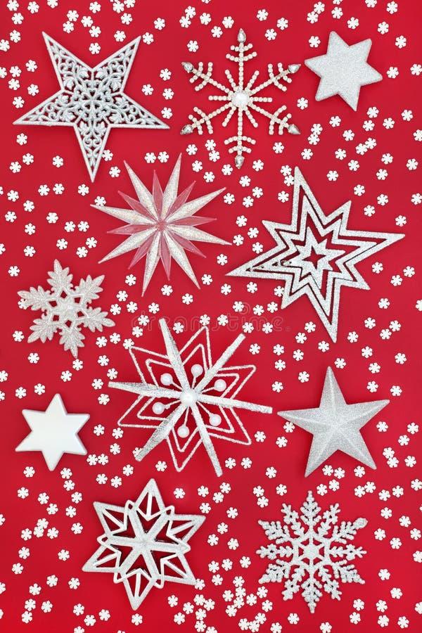 Boże Narodzenia gwiazdy i płatka śniegu tło zdjęcia royalty free