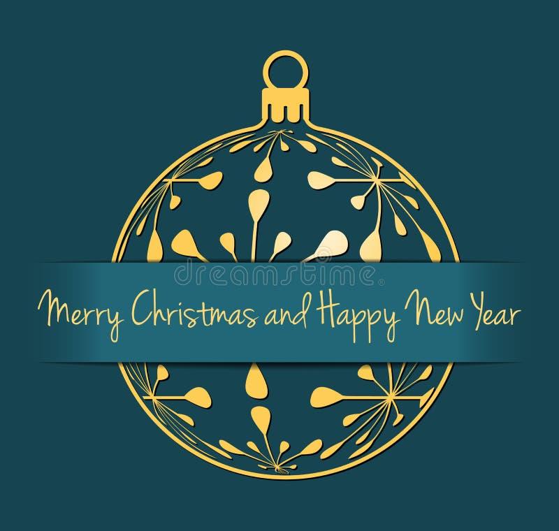 Boże Narodzenia i nowego roku cyan tło ilustracji