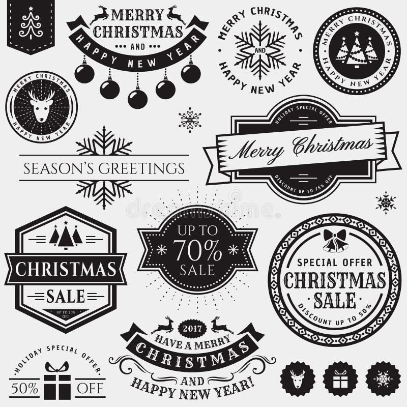 Boże Narodzenia i nowego roku projekta elementy royalty ilustracja