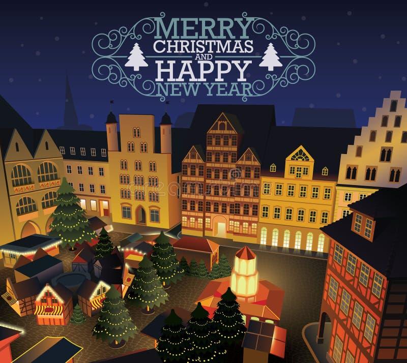 Boże Narodzenia i nowego roku rynek ilustracji