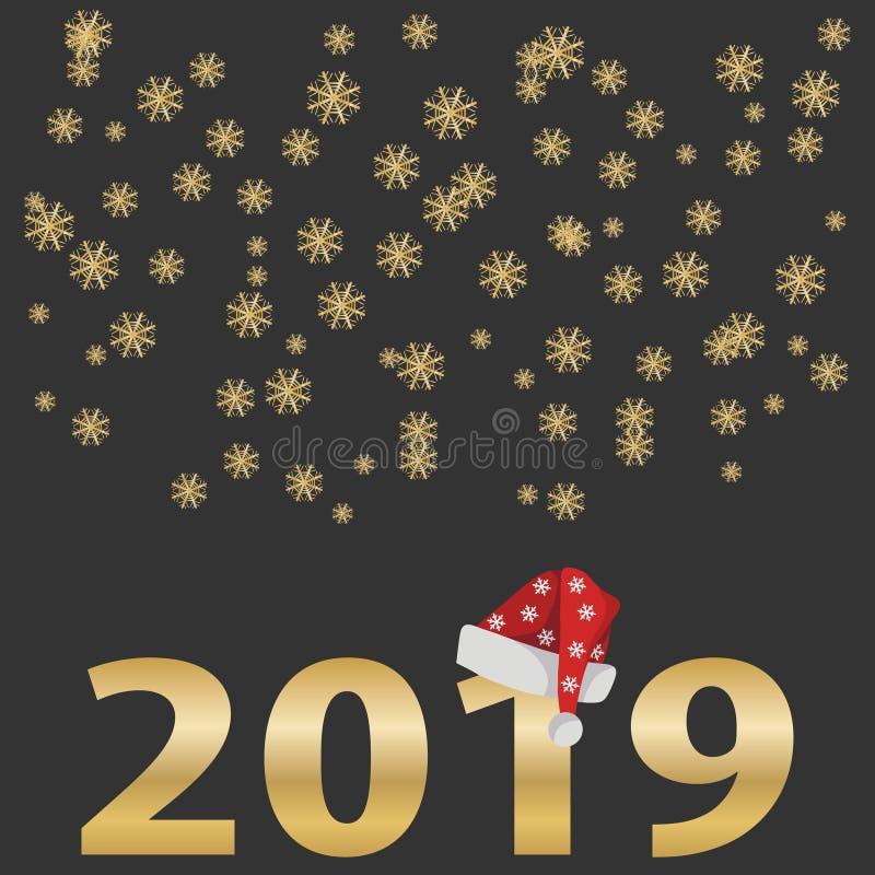 Boże Narodzenia i nowego roku ` s rocznika sztandar ilustracja wektor