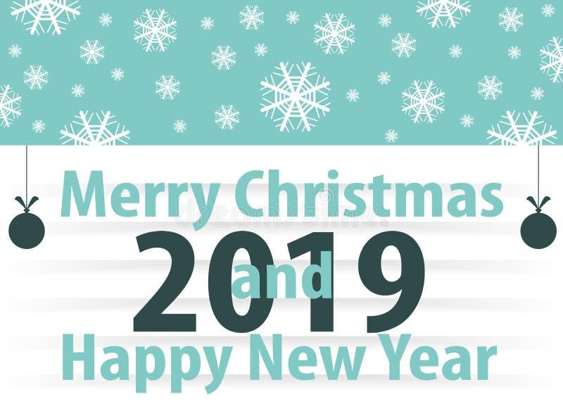 Boże Narodzenia i nowego roku ` s rocznika sztandar ilustracji