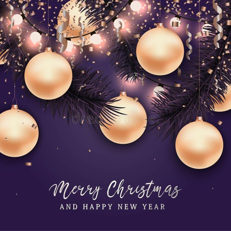 Boże Narodzenia i nowego roku tło dla karty ilustracji