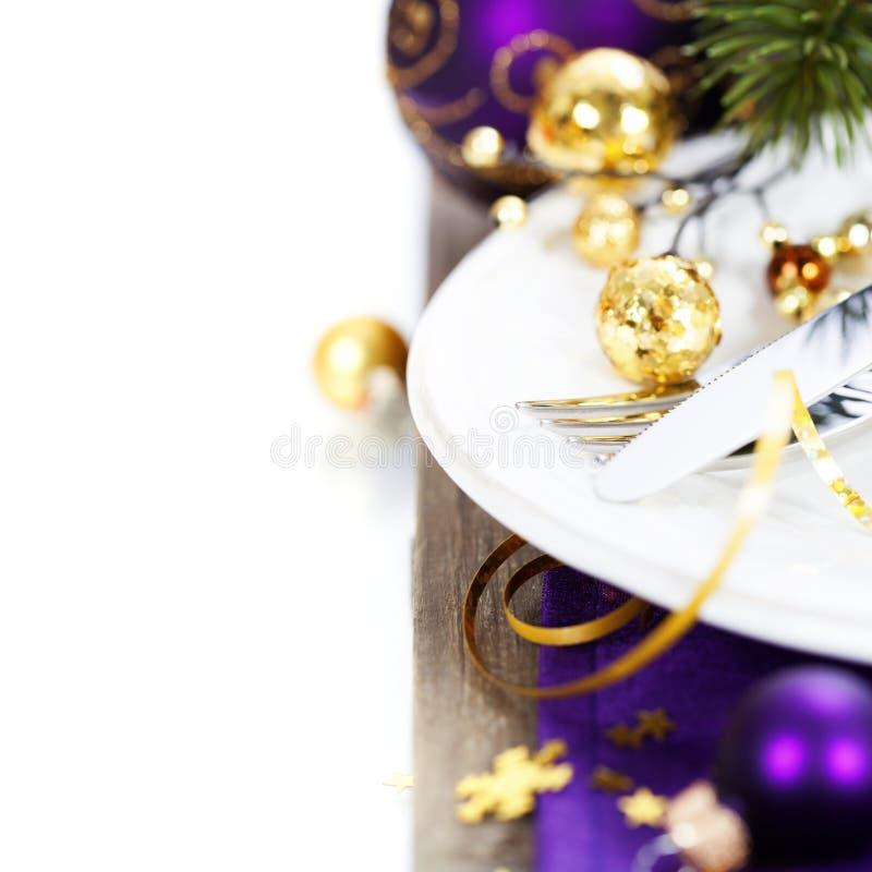 Boże Narodzenia I nowego roku wakacje stołu położenie obraz royalty free