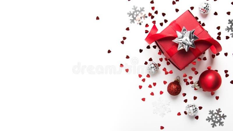 Boże Narodzenia i nowego roku wakacje tło Xmas kartka z pozdrowieniami chłopiec wakacji lay śniegu zima fotografia royalty free
