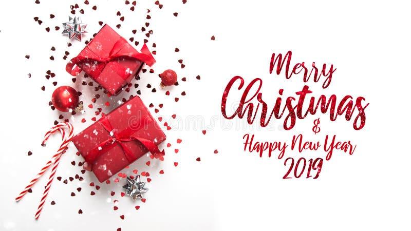 Boże Narodzenia i nowego roku wakacje tło Xmas kartka z pozdrowieniami chłopiec wakacji lay śniegu zima obrazy stock