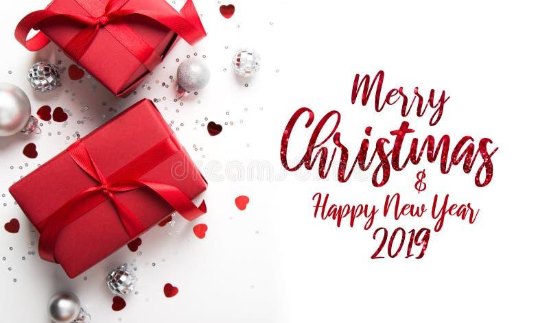 Boże Narodzenia i nowego roku wakacje tło Xmas kartka z pozdrowieniami chłopiec wakacji lay śniegu zima obrazy royalty free