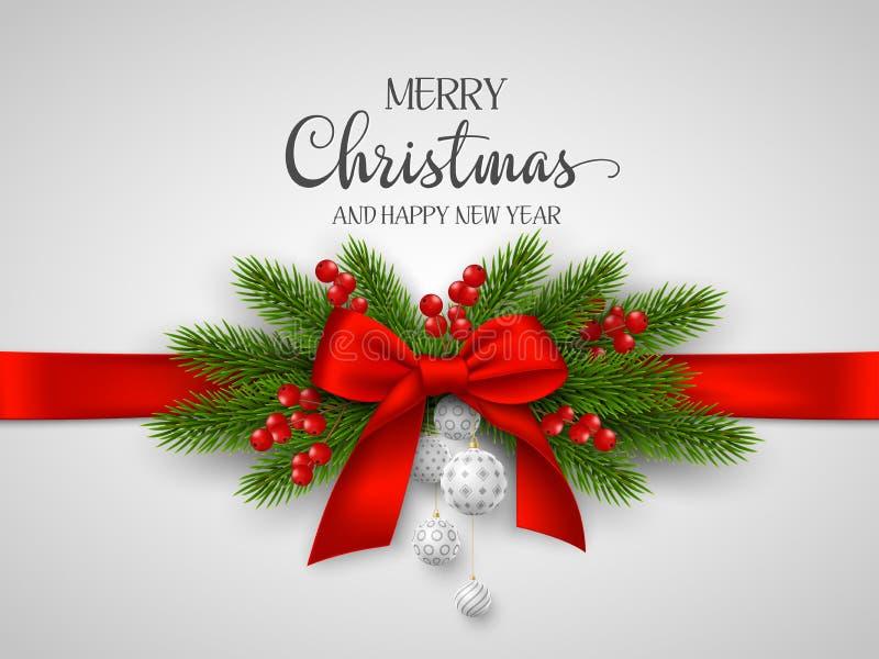 Boże Narodzenia i nowego roku wakacyjny projekt ilustracji
