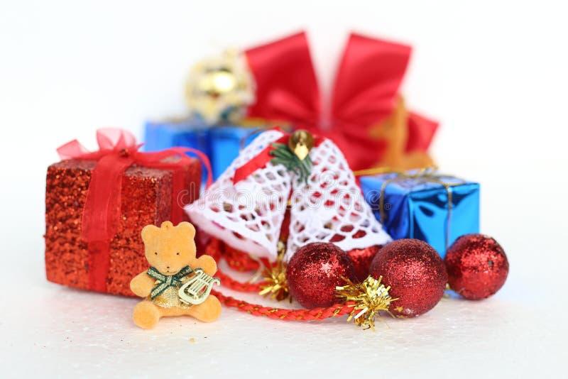 Boże Narodzenia i nowy rok dekoraci przedmioty fotografia royalty free