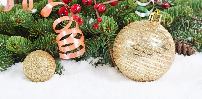 Boże Narodzenia i Nowy Rok Granica zdjęcie stock