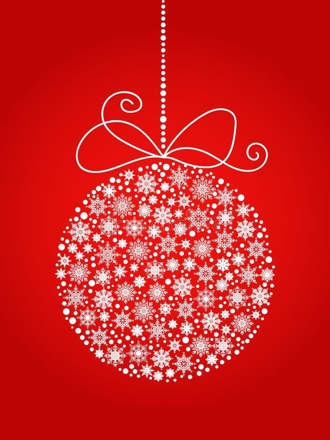 Boże Narodzenia i nowy rok piłka robić od płatków śniegu Wektorowy tło obrazy stock