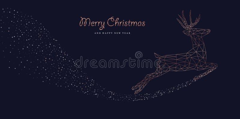 Boże Narodzenia i nowy rok sieci luksusowy jeleni sztandar ilustracja wektor