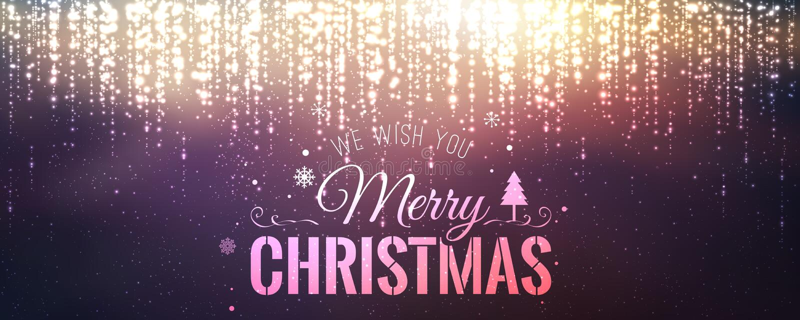 Boże Narodzenia i nowy rok typographical na tle z iskrzyć, światło, grają główna rolę ilustracji