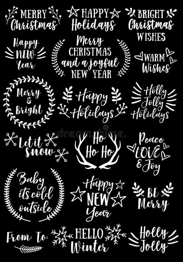 Boże Narodzenia i nowy rok, wektoru set ilustracja wektor