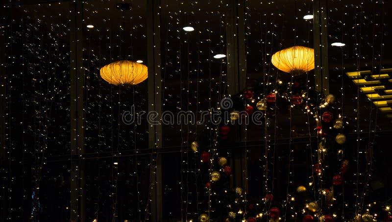 Boże Narodzenia i przyjęć światła pewny typ obrazy royalty free