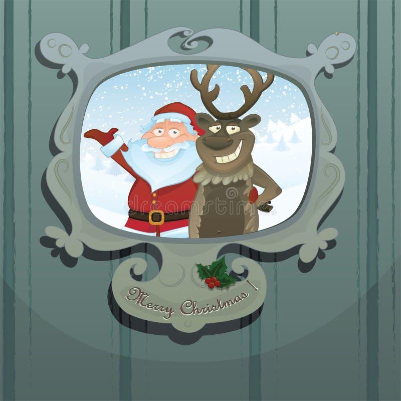 boże narodzenia ilustracyjny Rudolph Santa royalty ilustracja