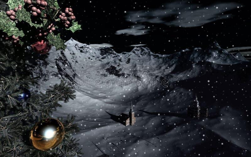 boże narodzenia kształtują teren śnieżnego royalty ilustracja