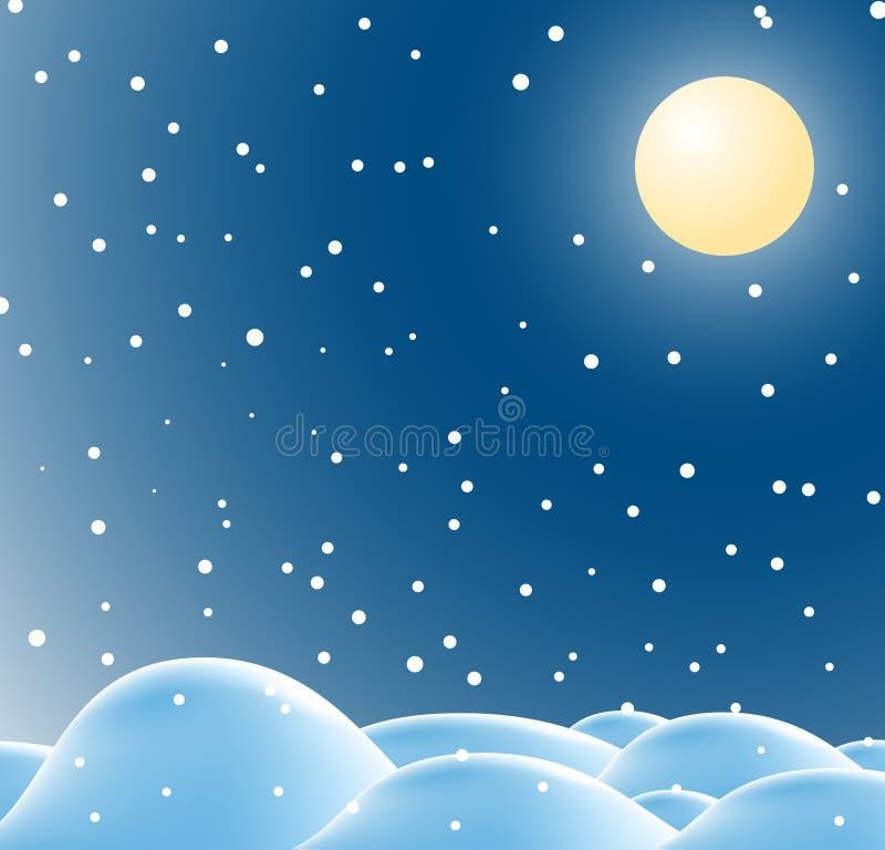 boże narodzenia kształtują teren zima ilustracja wektor