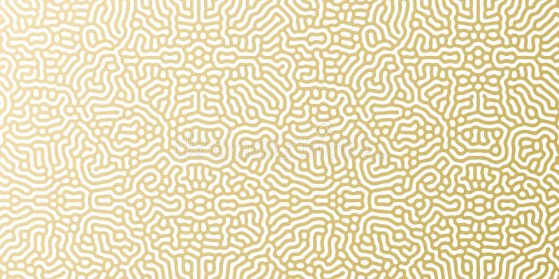 Boże Narodzenia lub nowego roku tła wakacyjny złoty deseniowy szablon dla kartka z pozdrowieniami projekta Wektorowy złoto i biał ilustracji