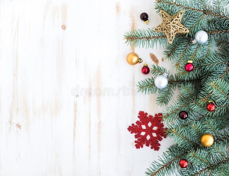Boże Narodzenia lub nowy rok dekoraci tło: futerko obrazy stock