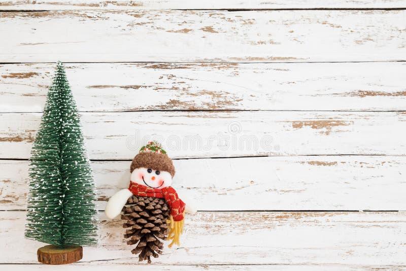 Boże Narodzenia miniaturyzują drzewa, Xmas dekoracja obraz royalty free
