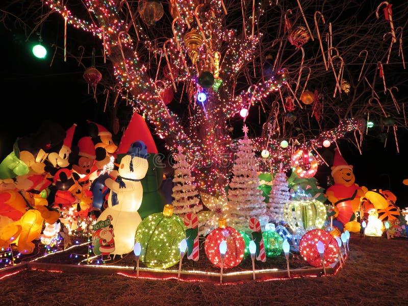 Boże Narodzenia na przedmieściach Virginia obrazy royalty free