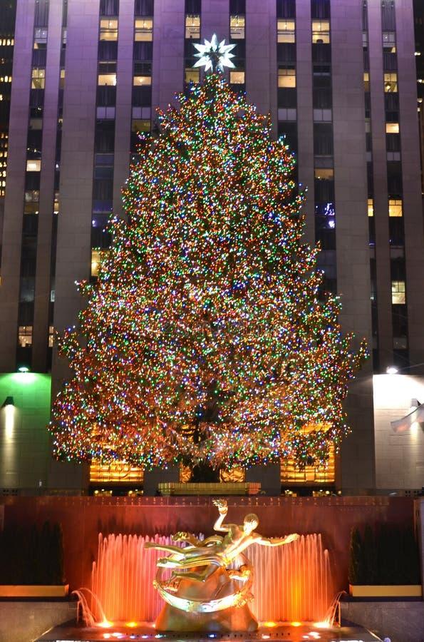 boże narodzenia nowy drzewny York obrazy royalty free