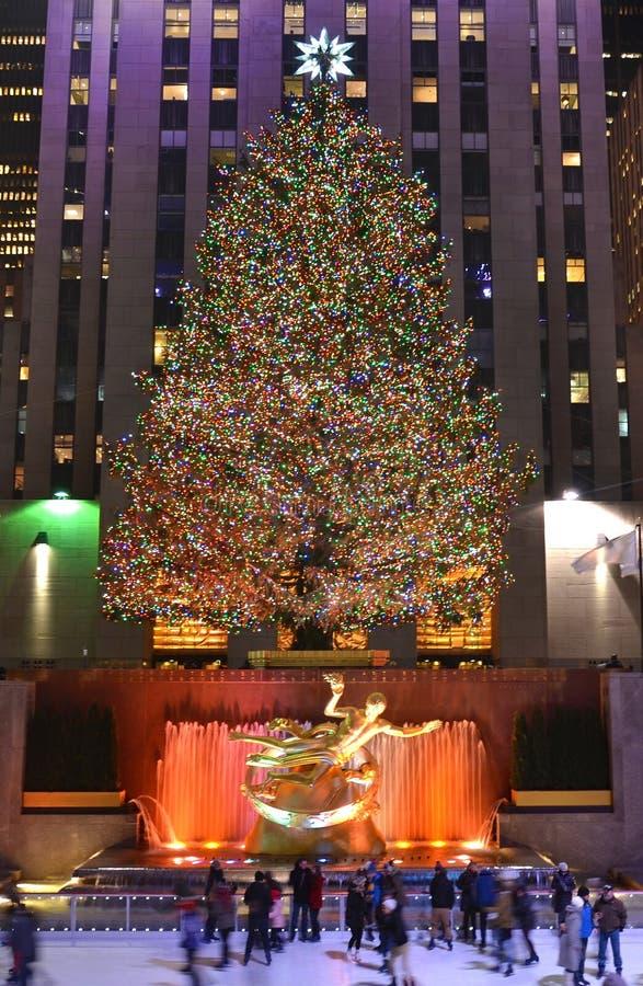 boże narodzenia nowy drzewny York obraz royalty free