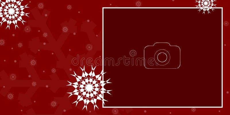 Boże Narodzenia, nowy rok ilustraci karta/ fotografia stock
